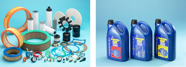 Air Compressor Sales Service kits and lubrication